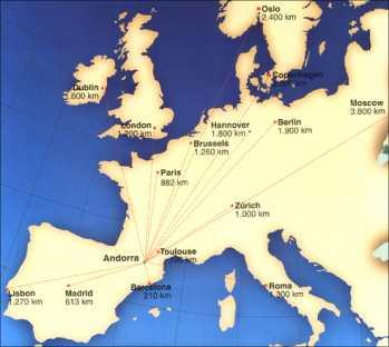 Karte Andorra