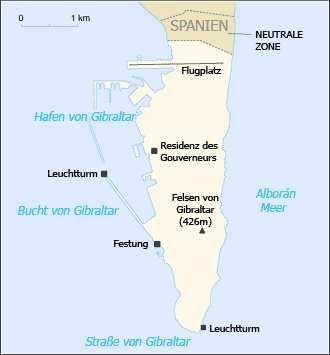 Karte Gibraltar