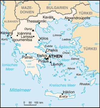 Griechenland-Karte