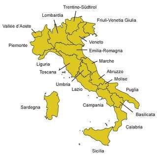 Italien, Karte