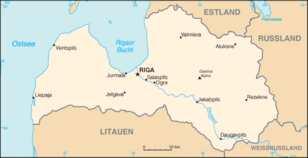 Lettland, Karte