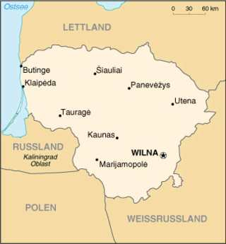 Litauen, Karte