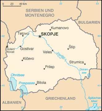 Karte Mazedonien