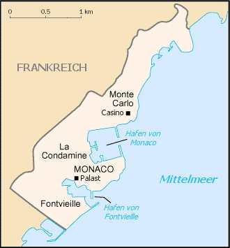 Monaco, Karte
