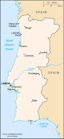 Portugal-Karte