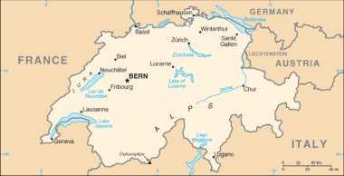 Schweiz: Karte