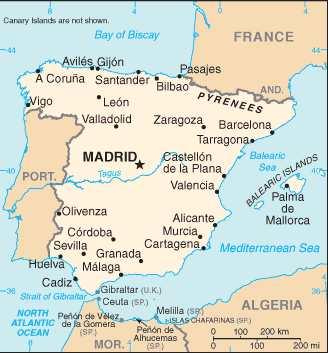 Spanien - Karten